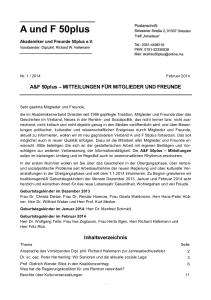 A&F-Mitteilung 1-2014