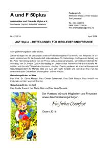 A&F-Mitteilung 2-2014