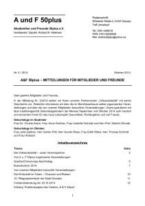 A&F-Mitteilung 5-2014