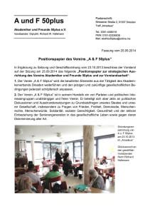 Positionspapier A u.F 25.09.2014