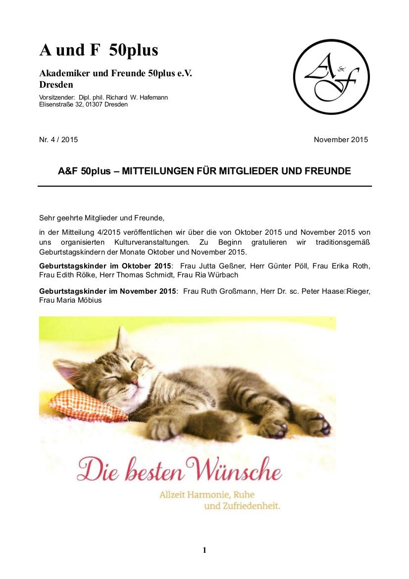 A&F-Mitteilung 4-2015