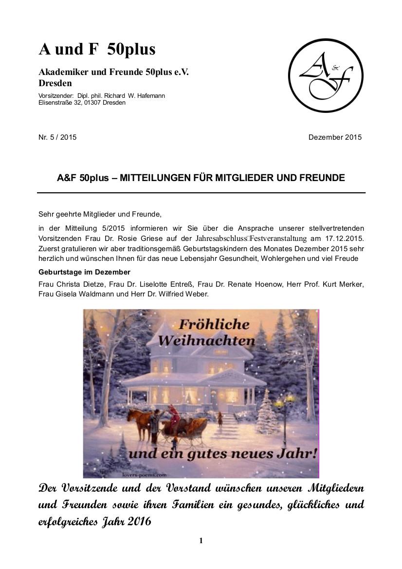 A&F-Mitteilung 5-2015