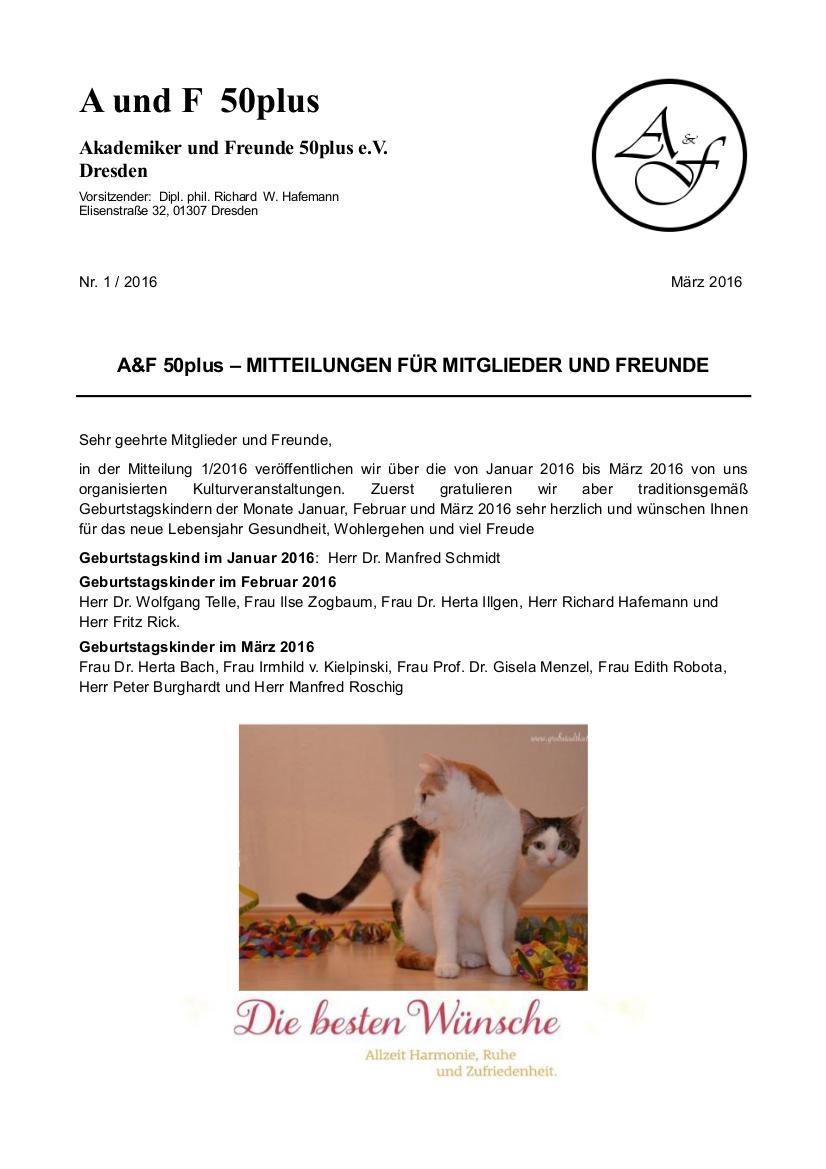 A&F-Mitteilung 1-2016