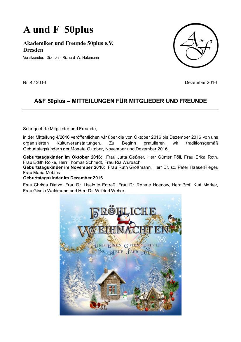 A&F-Mitteilung 4-2016