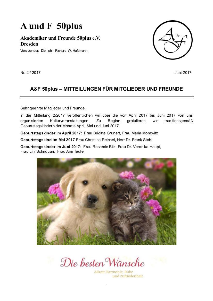 A&F-Mitteilung 2-2017