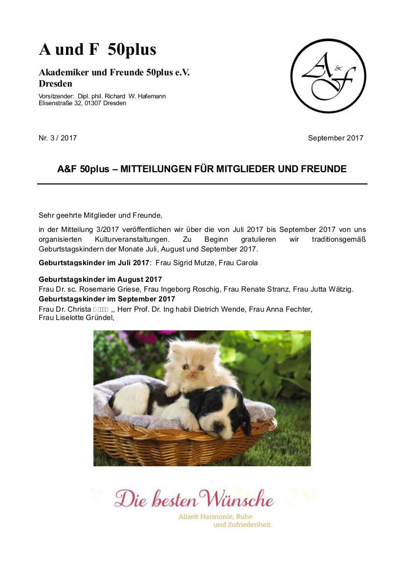 A&F-Mitteilung 3-2017