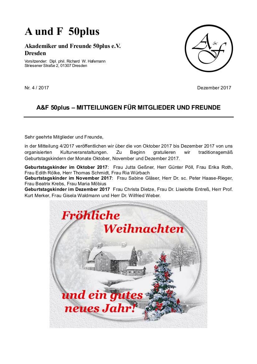 A&F-Mitteilung 4-2017