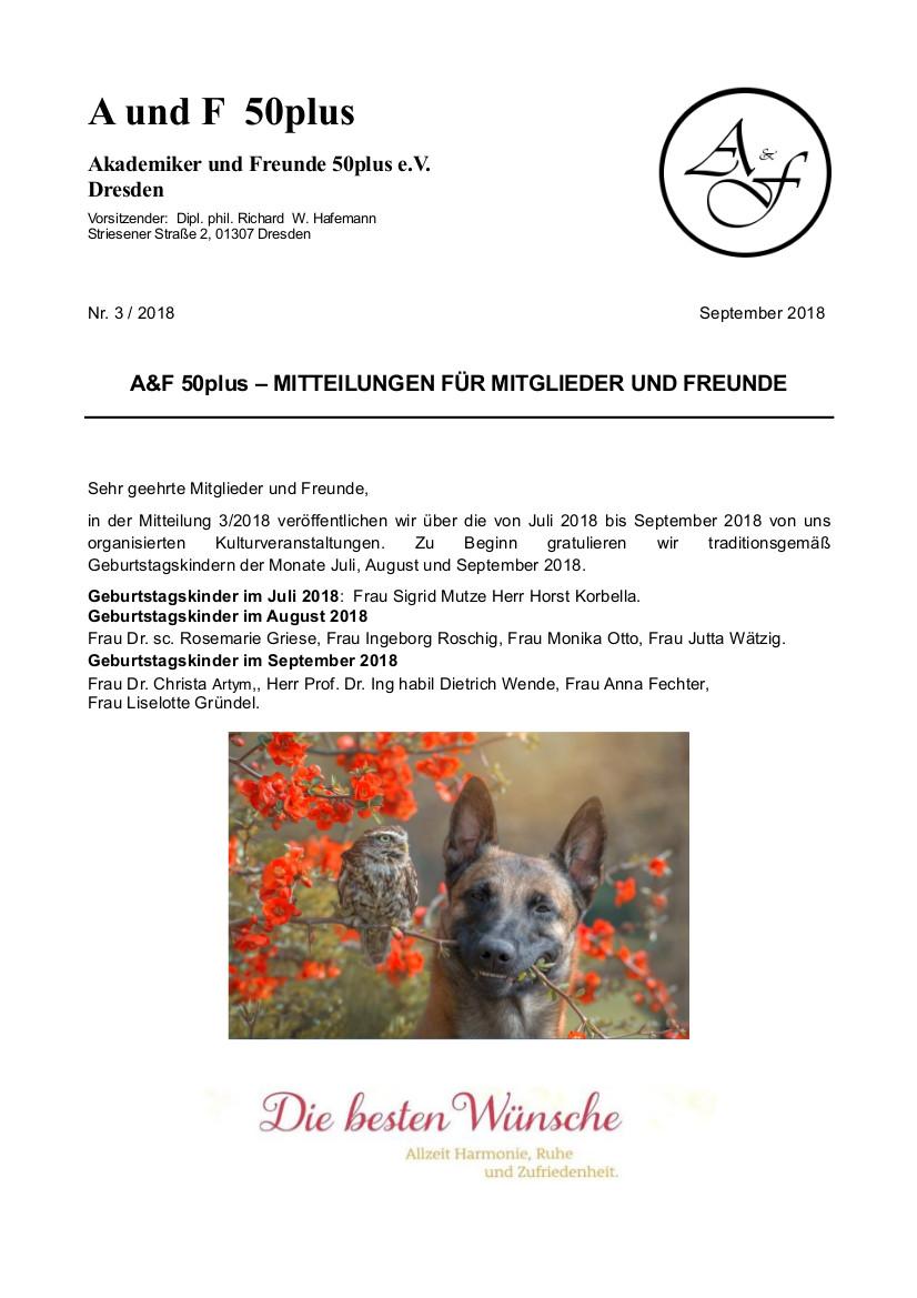 A&F-Mitteilung 3-2018