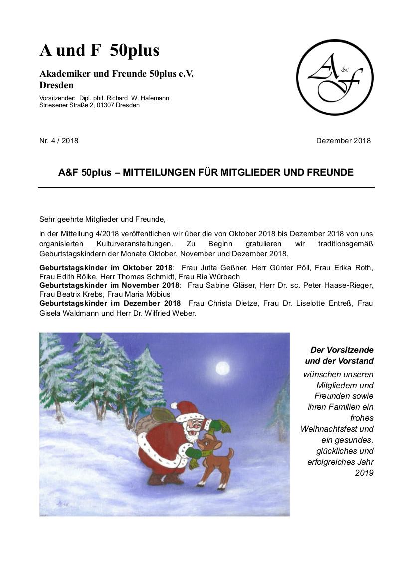 A&F-Mitteilung 4-2018