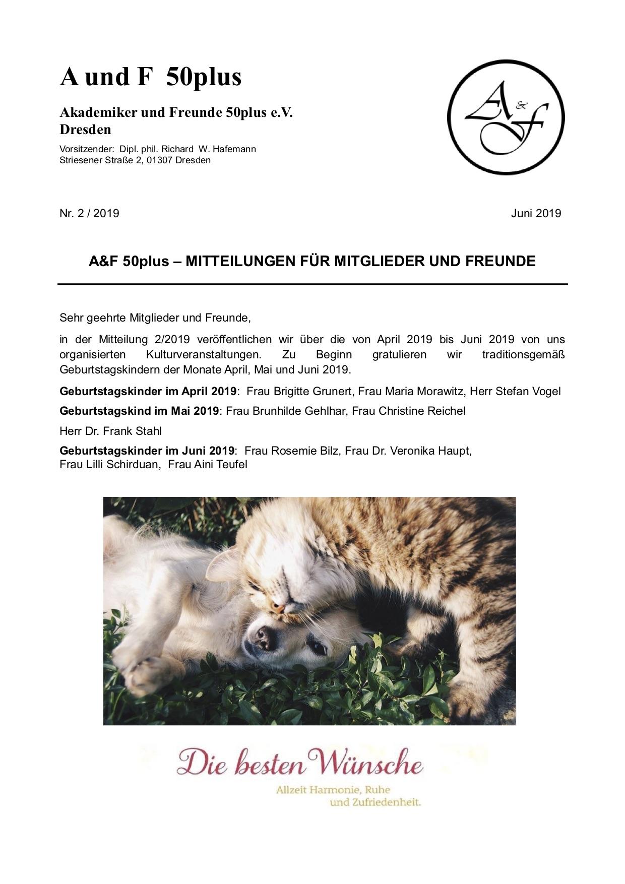A&F-Mitteilung 2-2019
