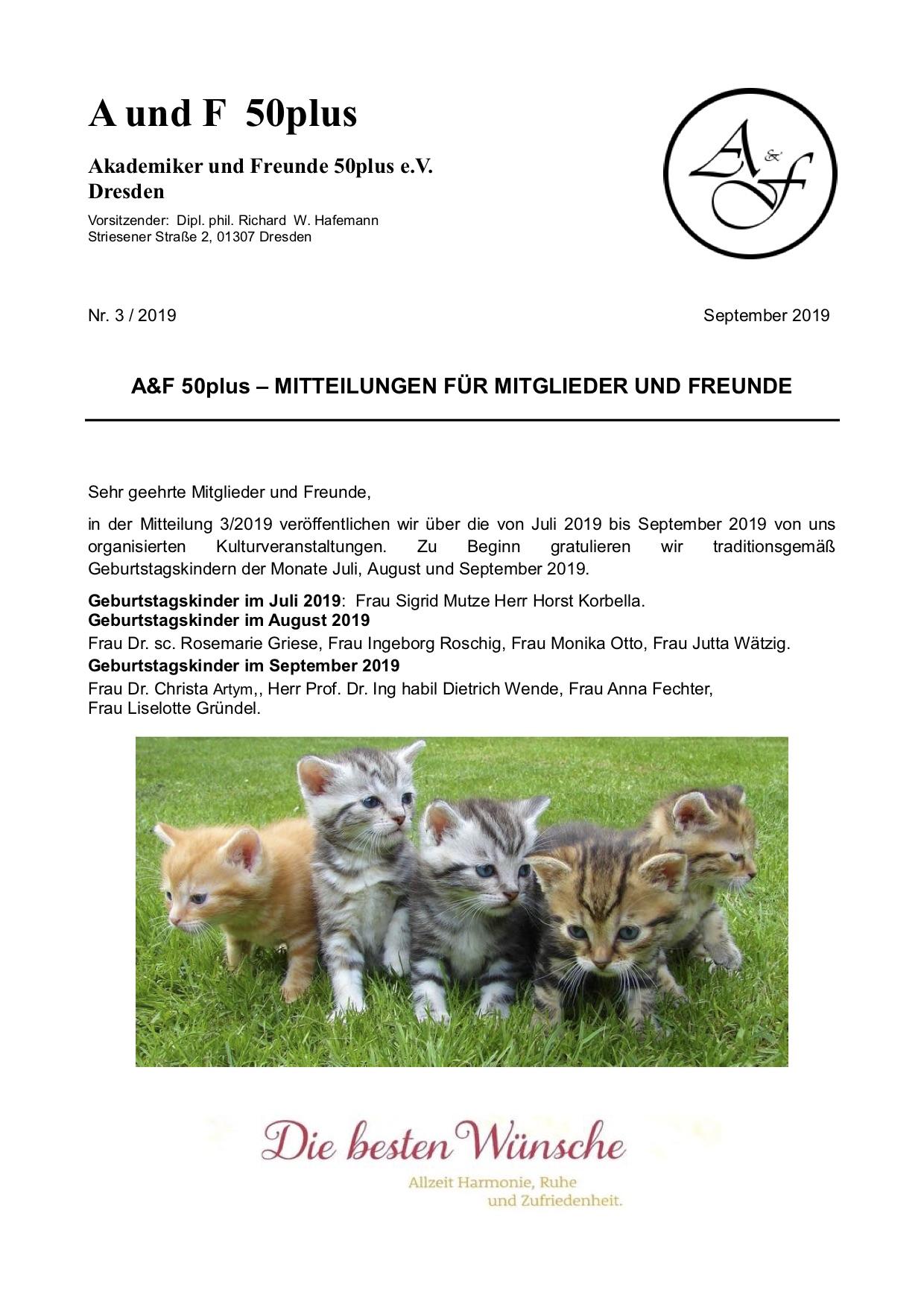 A&F-Mitteilung 3-2019
